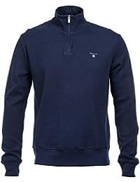 Gant Half Zip Honeycomb Navy Sweatshirt