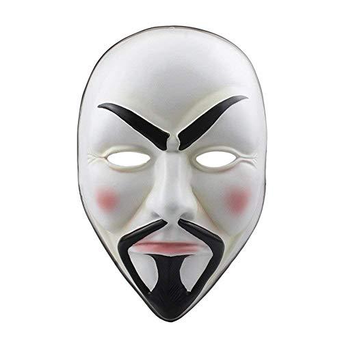 Horror-Maske Gruselige Faulkopf-Masken Gesicht Schrecklich Für Halloween-Kostüm-Party, Vendetta Anonymous Guy Fawkes Halloween Masquerade Maske,White (Guy White Halloween-kostüme)