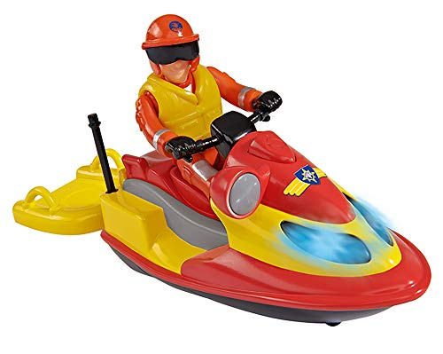 Smoby - 109251048002 - Sam Le Pompier - Ocean Jet Ski Juno Flottant + 1 Figurine