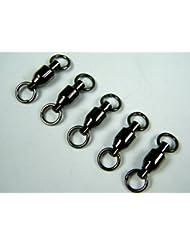 30 piezas 83kg #6 Negro nickel Brass Pesca Barril Rolling Emerillones Ball Bearing