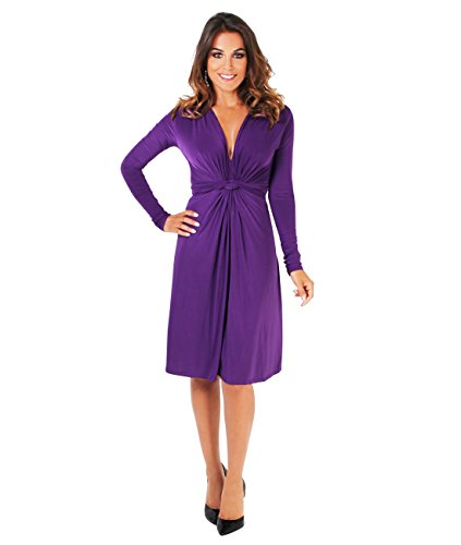KRISP Umstandsmode Kleid Tunika Langarm Violett