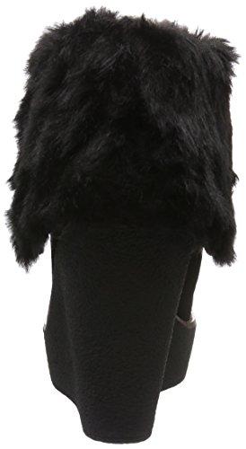 Buffalo 415-1875 Cow Suede, Bottes courtes avec doublure chaude femme Noir - Noir (01)