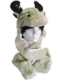 Adults Kids Unisex Plush Animal Face Trapper Hat/Scarf/Mitten/Mitt Combo Pocket Paws HAI773