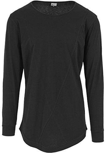 Urban Classics - Shaped Fashion Long Sleeve Tee, Maglia a maniche lunghe Uomo, Nero (Schwarz), Medium (Taglia Produttore: Medium)