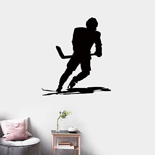 wandaufkleber sterne türkis Machst du Sport? Ice Hockey Player Skates Extreme Game -