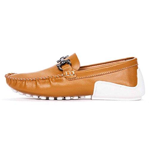 ZXCV Scarpe all'aperto Personalità Piselli Scarpe Scarpe da uomo Set di scarpe Per il tempo libero marea Scarpe da uomo in pelle Giallo