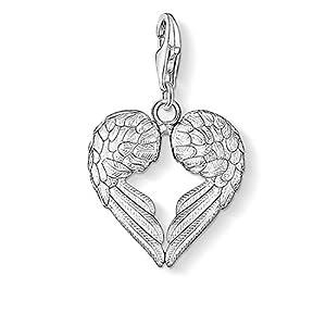 Thomas Sabo Damen-Charm-Anhänger Herz Flügel Charm Club 925 Sterling Silber 0613-001-12