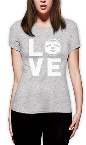 Love Faultier - Geschenk mit niedlichem Slothy Slothshirt Frauen T-Shirt Grau