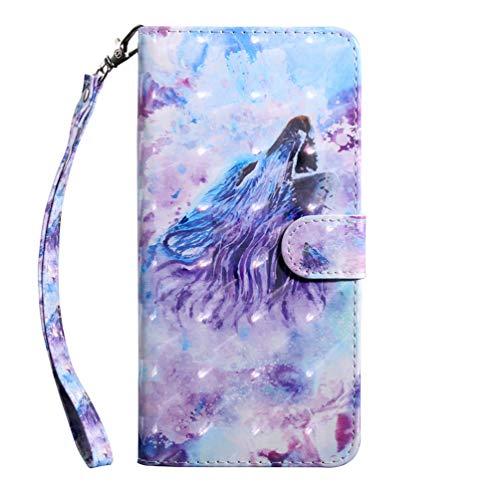 Preisvergleich Produktbild Hülle Case für Samsung Galaxy A20e HandyHülle Leder Flip Case 3D Malen Blumen Muster Schutzhülle Brieftasche Flipcover Tasche Ständer Magnetverschluss Kartenfach Handytasche Bookstyle