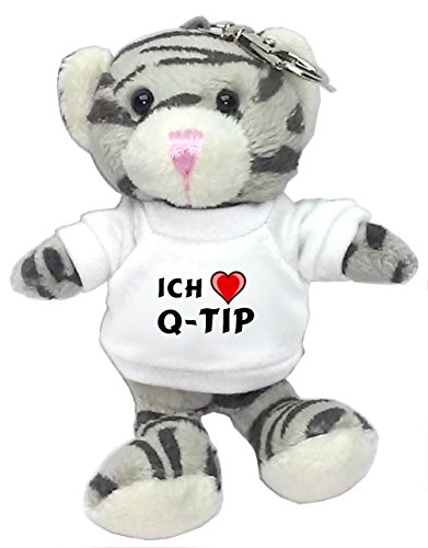 plusch-graue-katze-schlusselhalter-mit-t-shirt-mit-aufschrift-ich-liebe-q-tip-vorname-zuname-spitzna