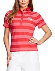 XFORE Golfwear - Polo -  - À rayures - Manches courtes Femme Rose Rose