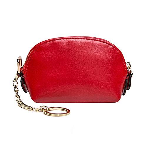 Liebe Kindertasche BV4Damen Leder Kleine Brieftasche Inhaber Reißverschluss Geldbörse Clutch RD Umhängetasche Dame Weibliche tasche Schultertasche Damen Leder - Cabrio Leder Aktentasche