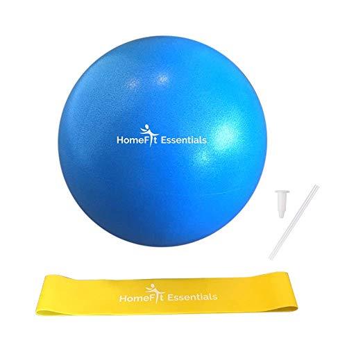 Pvc-stretch-slip (HomeFit Essentials Mini-Gymnastikball/Pilatesball, 22,9 cm, Blau/Gelb)