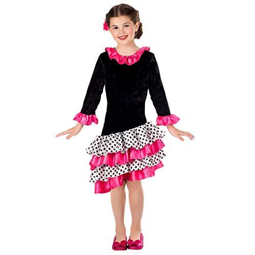 Kostüm Flamenco Girl - Fun Shack FNK4588L Kostüm, Girls, Flamenco Dancer, L