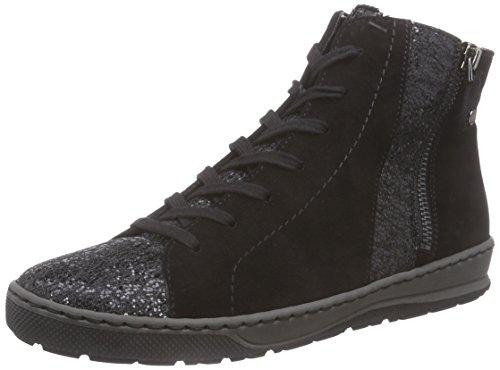 Jenny Dublin Damen Hohe Sneakers Schwarz (schwarz -61)