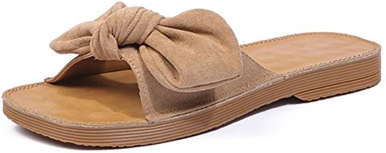 AJZGF Los Zapatos de Palabra Suave de la Parte Inferior de la Carne de Vaca, Zapatos Elegantes de la Playa del...