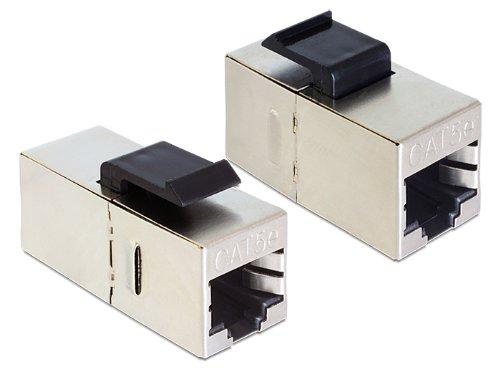 DeLOCK Keystone modulo RJ45 connettore femmina > connettore femmina Cat.5e - 86204 - Modulo Cat