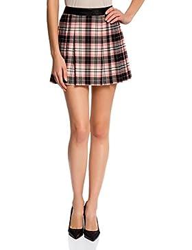 oodji Ultra Mujer Falda Corta con Pliegues