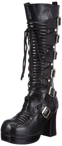 Damen Stiefel, Schwarz (Blk Vegan Leather), EU 40 (UK 7) (US 10) (Gothika-stiefel)