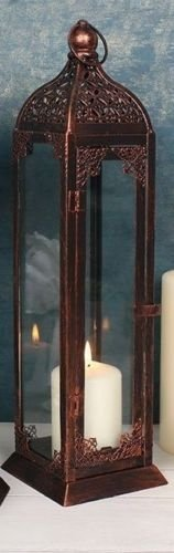 Große rustikale Kupfer Kerze Laterne Halter Garten Antike Französisch Hochzeit 45cm