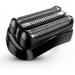 Braun Pièce De Rechange 21B Noire Pour Rasoir - Compatible Avec Les Rasoirs Series 3