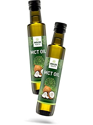 WoldoHealth MCT Oil C8 and C10 pure 100% coconut flavorless & odorless by WoldoHealth