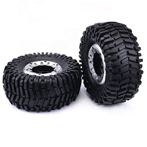 'RC pneumatici e mozzi Set di cerchioni in gomma spugna pneumatici Beadlock cerchio per Buggy 2X Rock Crawler 1.77felgen pneumatici 128mm Super swamper 10422RC 1: 10HPI