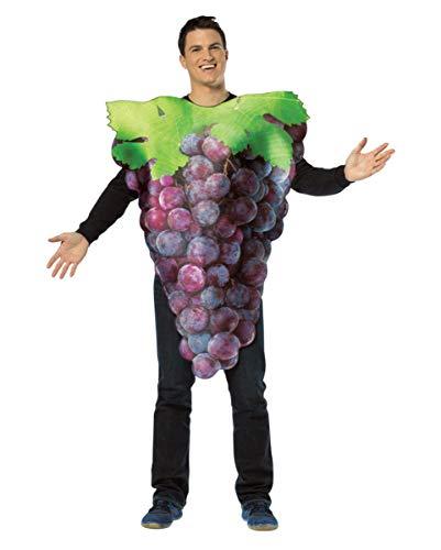 Weintraube Kostüm - Horror-Shop Leckeres Blaues Weintrauben-Rebe Kostüm für Gruppen am Faschingszug