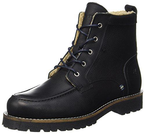 Marc O'Polo Herren Lace Flatheel Bootie 70920036301109 Combat Boots, Schwarz (Black), 42 EU (Boot Black Mops)