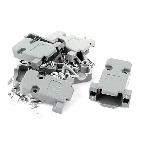 sourcingmapr-db9-plastique-gris-9-broches-connecteur-femelle-sub-d-capot-protection-couvre-capote-4p