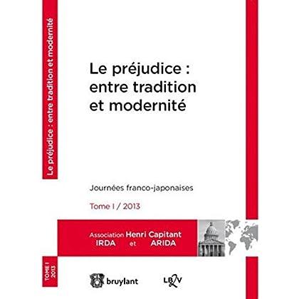 Le préjudice : entre tradition et modernité