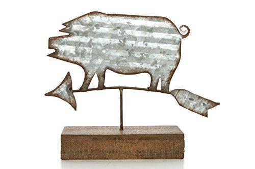 HOSLEY 19,1cm High, Deko Tischplatte Pig Wetter Vein. Ideal Geschenk für Hochzeit, Zuhause, Party Favor, Spa, Reiki, Meditation, badezimmereinrichtungen. P1 (Party Großhandel Favors)