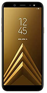 Samsung Galaxy A6 2018 32 GB UK SIM-Free Smartphone, Gold, UK Version