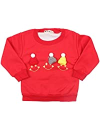 Miss U Baby boys Kids Full Sleeves High Quality Soft Cotton Blend Autum- Winter Wear Cozy Sweatshirts Cute Graphic Print Top With Fur Inner Inside.