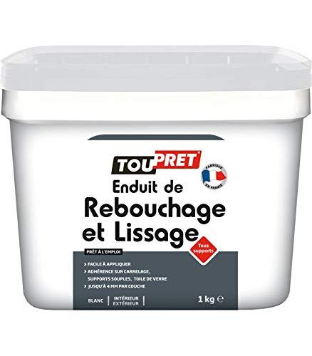 Toupret LSRLP1 Enduit de rebouchage/lissage tout support 1 Kg, Blanc