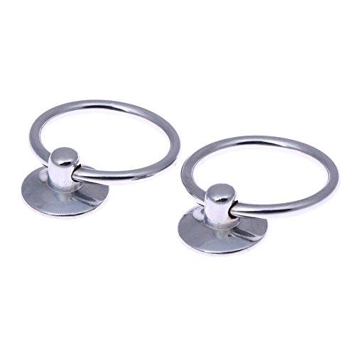 Ringe Schrank Schublade Zieht (demiawaking 2Hohe Qualität Runde Pull Ring Metall Griff Edelstahl Schrank Schublade Griff Knöpfe Schrank ziehen Griff)