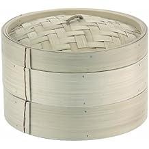 Paderno 49603-30 - Cesta para cocción al vapor (30 cm, bambú)