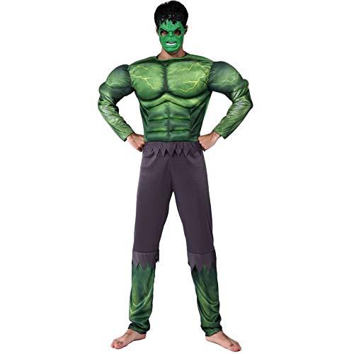 nihiug Halloween-kostüm Cos Erwachsenen Superman Kostüm Männlichen und Weiblichen Spiderman Batman Amerikanischen Kapitän Muskel Performance Anzug,J