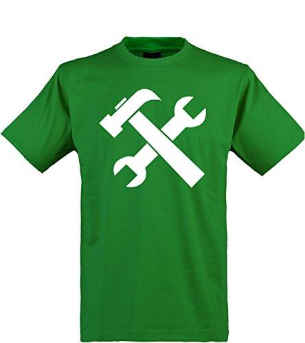 Klamottenkiste24 Herren T-Shirt, Handwerker/Heimwerker, grün, Gr. XL