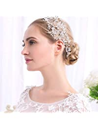 DEQIAODE Accessori per Capelli da Sposa Crystal Headpiece Hair Piece Hair  Vine per Wedding Women Bridesmaid b40a1480e09c
