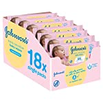 Johnson's Baby Extra Sensitive Fragrance Free Wipes - Pack of 12, Total 672 Wipes