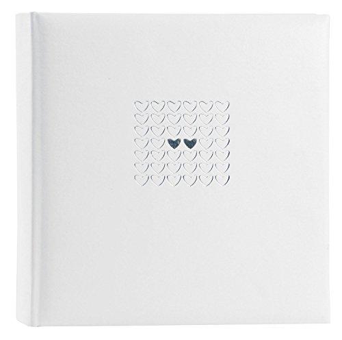 Goldbuch Hochzeitsalbum, Elegance, 30 x 31 cm, 100 weiße Seiten mit Pergamin-Trennblättern, Kunstleder mit Silberprägung, Perlmutt, 31450 -