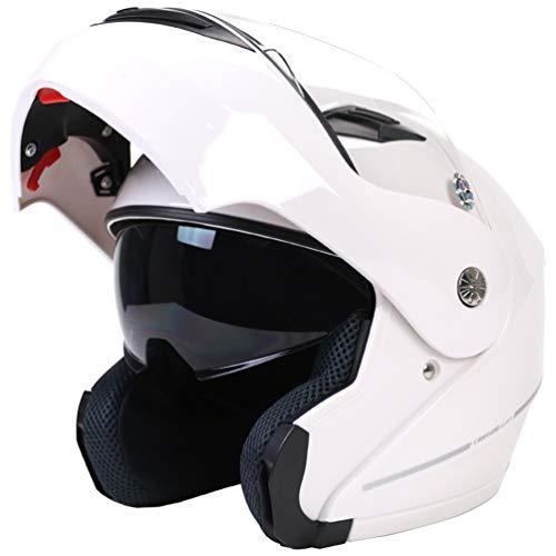 Qianliuk CT-999 Hombres Mujeres Bluetooth Full Face Motocicleta Casco Doble Lente Moto Casco Motocross Gorra de Seguridad para Four Seasons 58-63cm