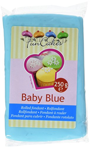 FunCakes Fondant, babyblau, 1er Pack (1 x 250 g)