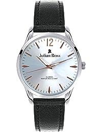 Julian Ross - Reloj de pulsera, Hombre, caja 38mm, Cuarzo analógico, Correa de Piel, Marca Italiana JR100502