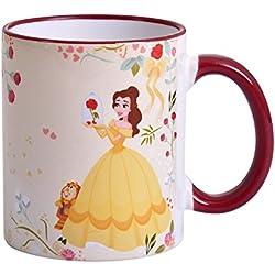 La Bella y la Bestia de Disney Belle taza creer en el amor por Elbenwald 320ml de cerámica de color amarillo