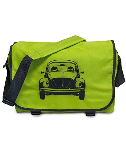 """Preisvergleich Produktbild Messenger Bag """"Käfer"""" Retro Tasche Schultertasche in Grün/Grau"""