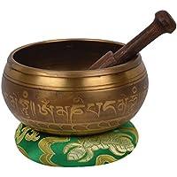 Cuenco tibetano de meditación con el grabado especial y bolsa étnica. Para la Atención y relajación - (demanda 3) -1 (B43)
