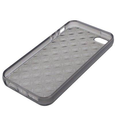 iPhone 5/5S étui en silicone gris avec structure-Original seulement de thesmartguard-Diamant