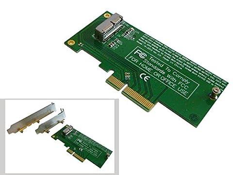 Kalea-Informatique PCIE-Kontrollkarte für SSD, MacBook 2013/2014 und 12+16 Pins (MD711 MD712 MD760 MD761 ME864 ME865 ME866 ME293 ME294 ME874 etc.)PCIe 4 (Macbook Air Ssd)